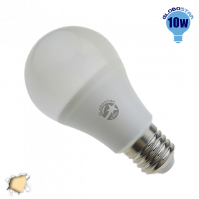 Γλόμπος LED A60 με βάση E27 GloboStar 10 Watt 230v Θερμό