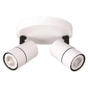 Eurolamp Spot Οροφής Ροζέτα Διπλή GU10