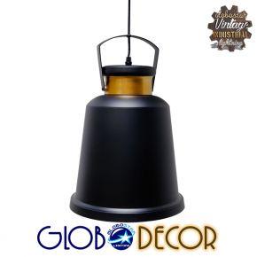 Vintage Industrial Κρεμαστό Φωτιστικό Nunziata 1XE27 Globostar