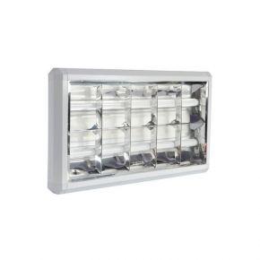 Eurolamp Φωτιστικό Εξωτερικό για 2 LED T8 1.20cm