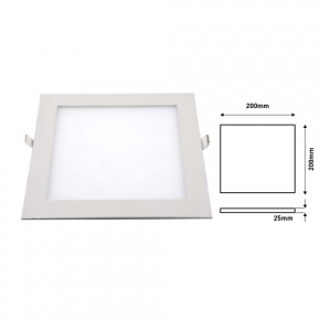 Ferrara LED Panel 16W Slim Χωνευτό IP20 Tετράγωνο
