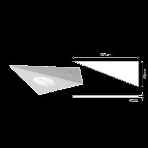 Eurolamp Φωτιστικό Εξωτερικό LED Slim Panel 143X143X123 2W Λευκό Plus