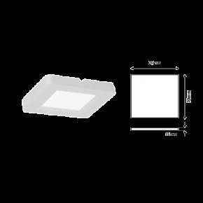 Eurolamp Φωτιστικό Εξωτερικό LED Slim 70X70 2W Λευκό Plus