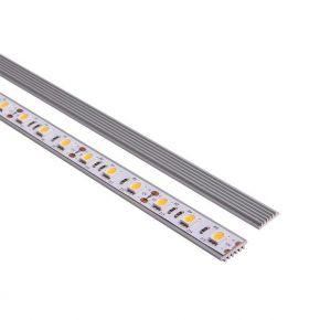 Eurolamp Προφίλ Αλουμινίου Μονή Ψύκτρα 2m