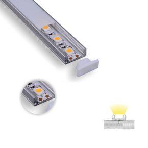 Eurolamp Super Slim Προφίλ Αλουμινίου LED Εξωτερικό 90° 2m