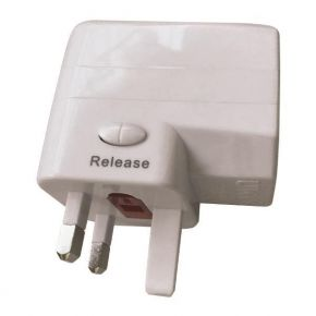 Eurolamp Ταξιδιωτικος Ανταπτορας Αγγλιας 6A USB Λευκός