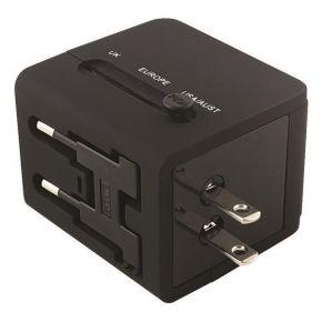 Eurolamp Ταξιδιωτικος Ανταπτορας Αγγλιας 6A USB