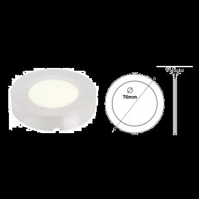 Eurolamp Φωτιστικό Εξωτερικό LED Slim Panel Φ70 2W Λευκό Plus