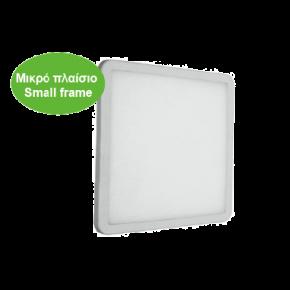 ACA LED SMD Χωνευτό Φωτιστικό FLEXI Slim Panel 9W Τετράγωνο IP44