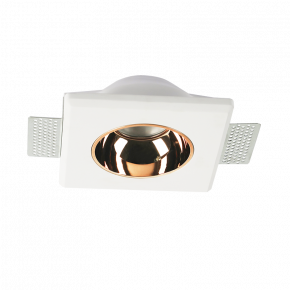 ACA Γύψινο Σποτ Molly Στρογγυλό Λευκό GU10 14x14cm Χωρίς Ανταυγαστήρα