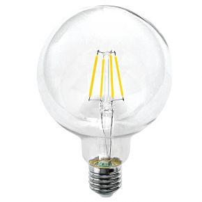 InLight E27 LED Filament G95 12watt Φυσικό Λευκό (7.27.12.21.2)