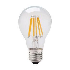 GEYER LED Λάμπα Filament Κλασσική A60 8W E27 Διάφανη Dimmable