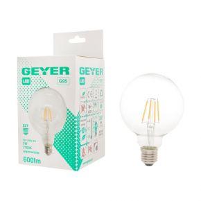GEYER LED Λάμπα Filament Γλόμπος G95 5W E27