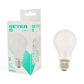 GEYER  LED Λάμπα Filament Κλασσική A60 4W E27