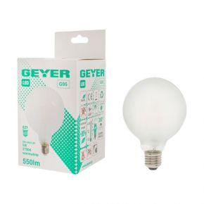 GEYER LED Λάμπα Filament Γλόμπος Ματ G95 5W E27