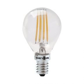 GEYER LED Λάμπα Filament Σφαιρική G45 4W E14 Διάφανη Dimmable