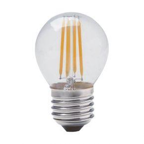 Geyer LED  Λάμπα Filament Σφαιρική G45 4W E27 Διάφανη