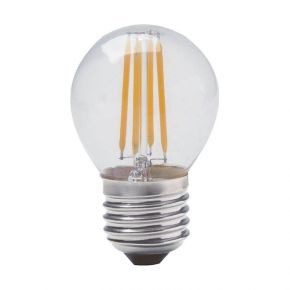 Geyer LED Λάμπα Filament Σφαιρική G45 4W E27 Διάφανη Dimmable