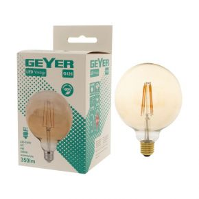 GEYER LED Λάμπα Filament Vintage Γλόμπος G125 6W E27