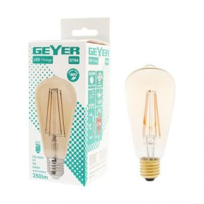 GEYER LED Λάμπα Filament Vintage ST64 5W E27 Dimmable