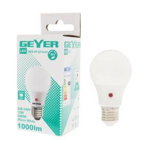 GEYER LED Λάμπα Κλασσική A65 12W E27 Με Sensor Ημέρας/Νύχτας