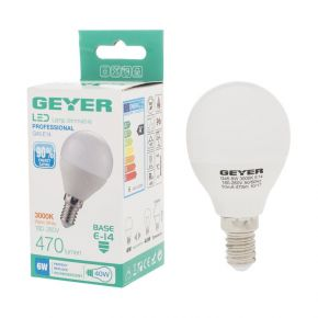 GEYER LED Λάμπα Σφαιρική G45 6W E14