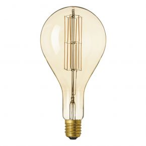 Calex GIANT SERIES LED Λάμπα 11W Filament E40 Φ160mm Dimmable SPLASH GOLD