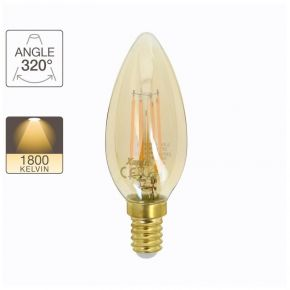 Xanlite LED Λάμπα 4W E14 C37 Vintage Filament