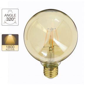 Xanlite LED Λάμπα 4W E27 G95 Vintage Filament