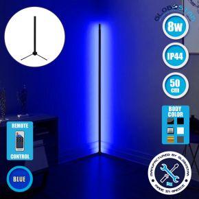 Μοντέρνο Minimal Επιτραπέζιο Μαύρο Φωτιστικό 50cm LED 8 Watt με Ασύρματο Χειριστήριο RF & Dimmer Μπλε GloboStar ALIEN Design GLOBO-50-6