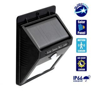 Αυτόνομο Αδιάβροχο Ηλιακό Φωτιστικό LED με Ανιχνευτή Κίνησης Globostar