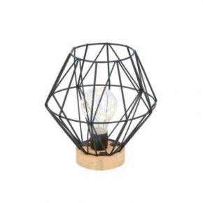 Grundig Φωτιστικό LED Μπαταρίας Με Μεταλλικό Σκελετό Και Ξύλινη Βάση