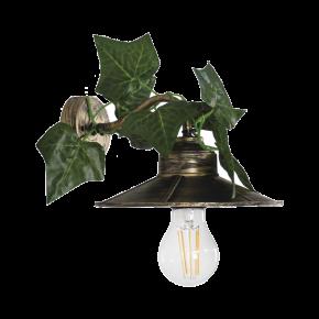 Heronia Απλίκα Μεταλλική Με Πλαστική Βάση, Καπέλο Και Φύλλα Κισσού 1xE27 AS-161AP EDEM