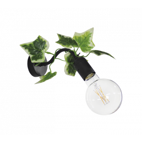 Heronia Απλίκα Μεταλλική Με Πλαστική Βάση Και Φύλλα Κισσού 1xE27 AS-26AP EDEM