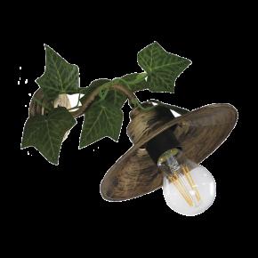 Heronia Απλίκα Μεταλλική Με Πλαστική Βάση, Καπέλο Και Φύλλα Κισσού 1xE27 AS-160AP EDEM