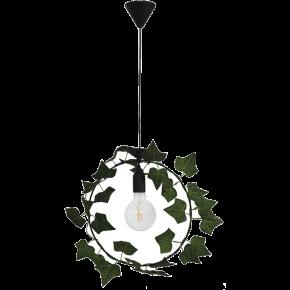 Heronia Κρεμαστό Φωτιστικό 1xE27 Vintage Μεταλλικό Με Φύλλα Κισσού KYKLOS EDEM