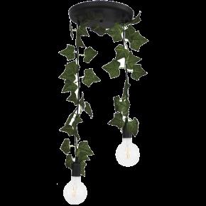 Heronia Κρεμαστό Πολύφωτο 2xE27 Vintage Μεταλλικό Με Φύλλα Κισσού EDEM KA-01 PENDEL