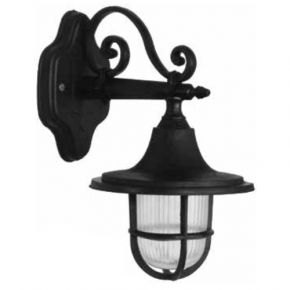 Heronia LED Πλαστική Απλίκα Τοίχου 11W E27 Φανάρι LP-700AK IP23