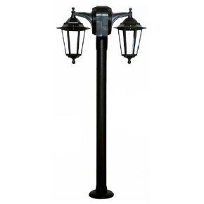 Heronia LED Πλαστική Κολώνα Δίφωτη Φανάρι 2x15W 2xE27 LB-611EB IP23