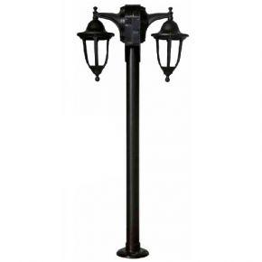Heronia LED Πλαστικό Κολωνάκι Δίφωτο 2x15W 2xE27 Φανάρι 2L LP-510EB IP23