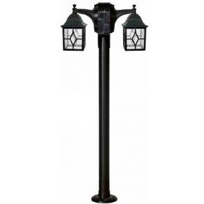 Heronia LED Πλαστικό Κολωνάκι Δίφωτο 2x15W 2xE27 Φανάρι 2L LP-710EB IP23