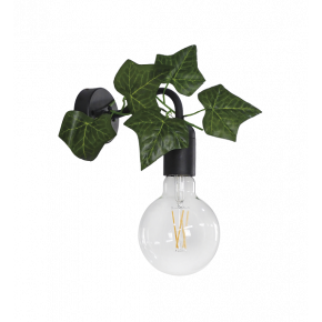 Heronia Απλίκα Μεταλλική Με Πλαστική Βάση Και Φύλλα Κισσού 1xE27 AS-25AP EDEM