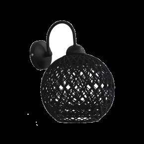 Heronia Επίτοιχο Φωτιστικό Μπάλα Σχοινί Με Μεταλλική Βάση 1xE27 SILK PENDEL Ø20cm