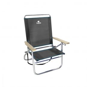 HUPA Ρυθμιζόμενη Καρέκλα Παραλίας 3 Θέσεων Γκρί