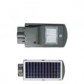 SL Ηλιακό Φωτιστικό Δρόμου HPL LED 20W 420lm 6000K IP65 Ανθρακί Με Αισθητήρα