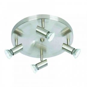 InLight Επιτοίχιο σποτ από μέταλλο σε νίκελ ματ απόχρωση (9075-4Φ-Νίκελ Ματ)