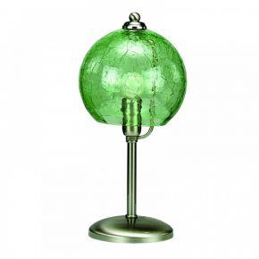 InLight Επιτραπέζιο φωτιστικό από νίκελ ματ μέταλλο και πράσινο κρακελέ γυαλί (3366-Πράσινο)
