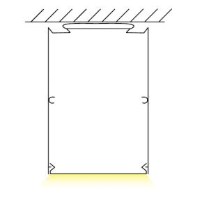 Kalfex Ανάρτηση Οροφής Για Γραμμικό Φωτιστικό LED Trimless 80000