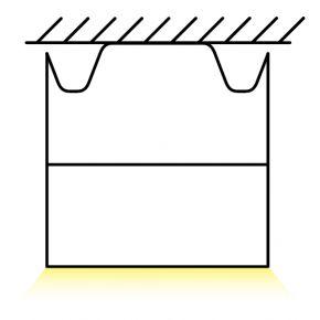 Kalfex Ανάρτηση Οροφής Σετ Για Γραμμικό Φωτιστικό L17000 - 17000