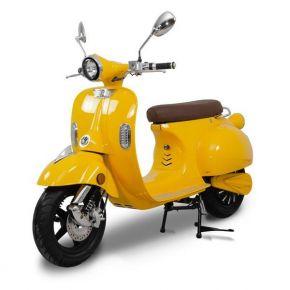 "EUROSPEED Ηλεκτρικό Scooter ""Vintage Vespa""  3000W 60V 40AH Κίτρινο"